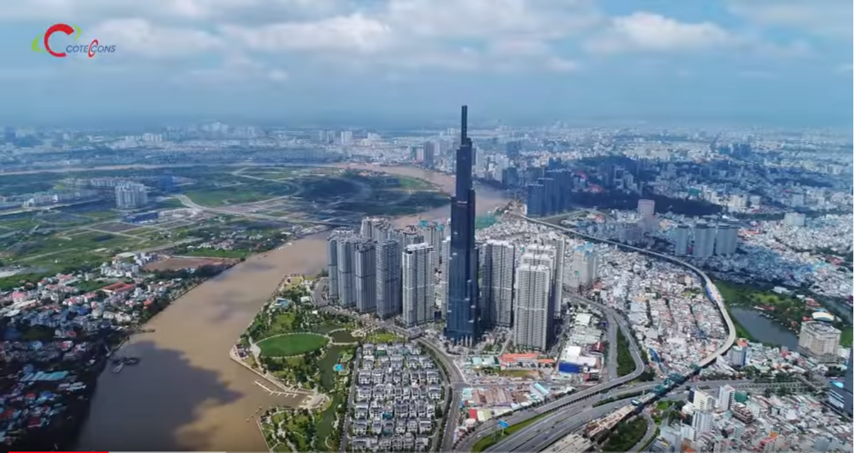 Coteccons Group have conquered the antenna installation work on the top of the Landmark 81